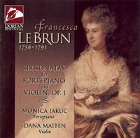 Francesca LeBrun:<br>Six Sonatas for Fortepiano and Violin